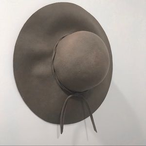 Pacsun Taupe Wool Floppy Hat